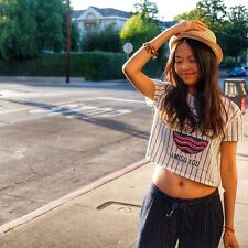 ZARA TRF TRAFALUC I MISO YOU JAPANESE BLOGGERS STRIPE CROP TOP TSHIRT TEE S 8 10
