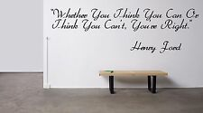Vinyl Wall Decal Sticker Room Decor Saings Quotes Inspiring Henry Ford New F2059