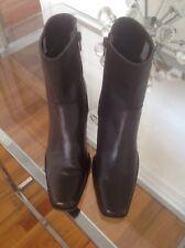 "Caressa ""Art Of Comfort"" Brown Leather  Bootie - Size 6"
