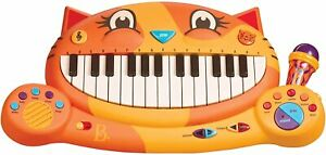 B Toys Meowsic Toy Cat Piano Children's Keyboard Musical Instrument & Microphone