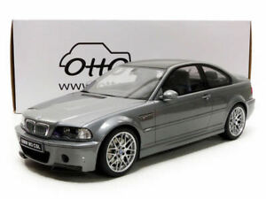 Otto Mobile BMW M3 E46 CSL Gray Metallic/Carbon 1:12 LE 2000pcs*LARGE CAR New!