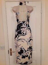 BNWTS cream/black floral choker midi dress, size 8.