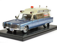 Cadillac S&S High Top Ambulance Metallic Blue/White 1966 NEO49545 1:43