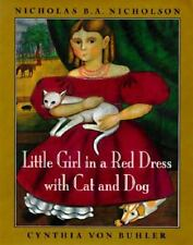 Little Girl in a Red Dress with Cat and Dog, Nicholson, Nicholas B. A., 06708718