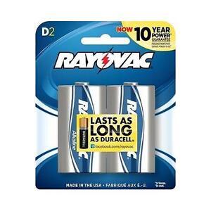 Rayovac Alkaline D Batteries 2-Pack Retail Packs