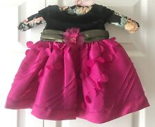 IRIS & IVY Infant Girl's Fuchsia & Black Special Occasion Dress, Size 3-6 Months