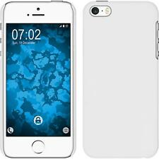 Hardcase Apple iPhone SE rubberized white Cover + protective foils