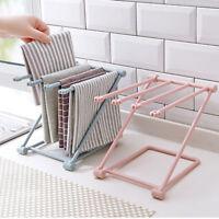 Kitchen Sink Folding Washing Towel Rag Drainer Holder Storage Rack Hanging UK