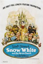24X36Inch Art SNOW WHITE AND THE SEVEN DWARFS Movie Poster Disney RARE P35