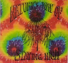 Tie Dye Tapestry // Natures Way of Staying Hi // 40x45 weed herb 420 ganja rasta