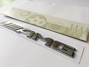 Mercedes AMG Chrome Badge Emblem Decals For 2017 Onwards Models