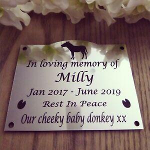 x1 Personalised Pet Memorial Plaque Grave marker  200mm x 120mm