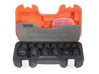 BAHDS14 1/2-Inch Square Drive Impact Socket Set - Orange 14-Piece