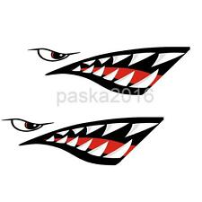 2pcs Shark Teeth Mouth Decals Funny Stickers for Car Kayak Canoe Dinghy Boat