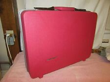 "Vintage Sears Travel Master Flamingo Pink 21"" Hardcase Suitcase"