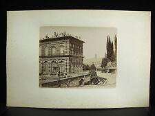 Firenze Florence tirage albuminé Palazzo Pitti Palais Italia c1880 photographie