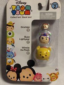 New Disney Tsum Tsum Series 2 Stack Collect Figures Grumpy Buzz Lightyear Pooh