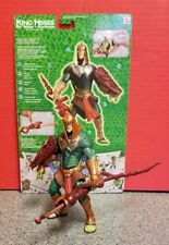 King Hssss 2003 He-Man MOTU VS Snake Men Body Flips Green Collectible Figure Toy