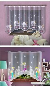 COLORFUL CHILD KIDS BEDROOM NET CURTAINS DISNEY ANIMALS CHARACTERS