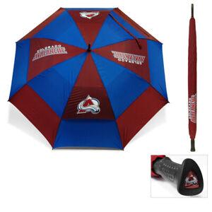 "NEW Team Golf 62"" Double Canopy Umbrella NHL Colorado Avalanche"
