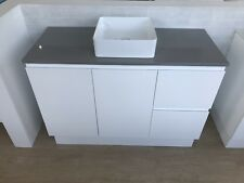 Bathroom Vanity Unit Freestanding Cabinet Stone Top 1200mm for Single Sink Basin