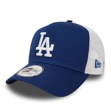 NEW ERA MENS BASEBALL CAP.LA DODGERS MLB BLUE CLEAN A FRAME MESH TRUCKER HAT 97