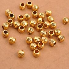 50/100Pcs Antique Tibetan Silver Round Charm Spacer Beads Jewelry Findings 3035