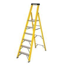 Youngman Platform 6 Tread Step Ladder Heavy Duty Fibreglass Platform Stepladder