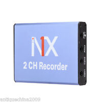 Mini DVR Recorder Support SD Card 128GB Realtime 2CH DVR Motion Detection MPEG-4