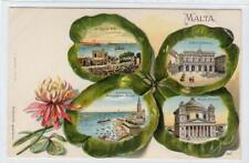 More details for early gruss aus type multiview postcard of malta [different] (c61686)
