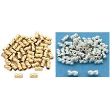 Gold Filled & Sterling Silver Twisted Crimp Jewelry Tube Beads Kit 100 Pcs