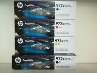 HP PageWide 972X Black, Cyan, Yellow, Magenta Inks Set of 4 Exp 2021-2022