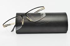 Cazal Glasses Mod. 718 Col. 302 Half-Rim Eye Frame Lunettes Black Gold + Case