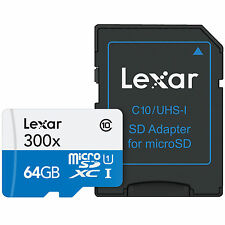 US Seller High-Performance Lexar 64GB 64 G GB 45MB/s 300x Micro SD SDXC MicroSD