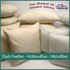 Polyester, Microfibre, Duck Feather Cushion Pads Inner Inserts  Fillers Scatters