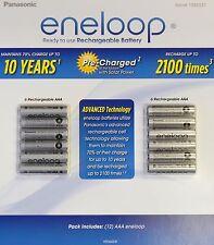Panasonic Eneloop Rechargeable 12 AAA Battery Set New!