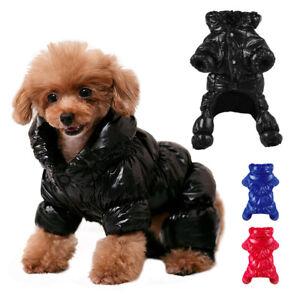 Waterproof Dog Coats Pet Cat Puppy Jumpsuit Soft Fleece Lined Winter Jacket Vest