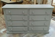 HANDMADE AYLESBURY 8 DRAWER CHEST (GREY) READY ASSEMBLED**NO FLAT PACK**