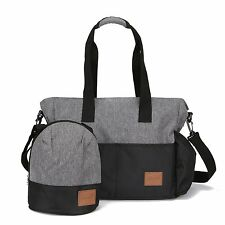 Stylish Diaper Bag Organizer for Moms, Plus Baby Tote Insulated Bottle Sack - +