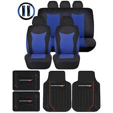 Dodge Elite Logo Rubber Floor Mats & Speed Seat Covers Black Steering Universal