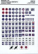 H0 Verkehrszeichen DDR (Teil 2), Siebdruck von Kreye-Decals, 087-0155