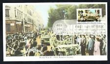 WWII ALLIES FREE ROME & PARIS Stamp MYSTIC First Day Cover FDC (2481)