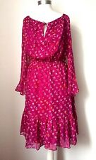 NEW DIANE VON FURSTENBERG DVF SIMONIA SILK DRESS 0 UK 8/10
