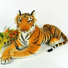 Large Artificial Tiger Soft Cuddly Toy Soft Toy Plush yellow 30cm Long
