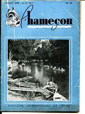 L'HAMEÇON - n°22 Juillet 1948 - Magazine International de Pêche