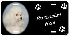 Poodle  toy  white  Personalized  Pet  License Plate