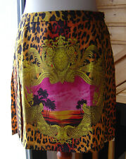 Versace H&M Rock Seide Skirt Silk LeoDesign Medusa 34 36 38 US 4 6 8 UK 8 10 12