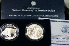 2001 Buffalo Two Coin Silver Dollar Commemorative Coins US Mint Set w/ Box & COA