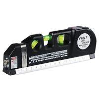 Professional Exact Laser Level Vertical Measure 8FT Aligner Standard Tape Ruler