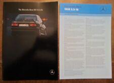 MERCEDES BENZ 190E 2.5-16 orig 1989 1990 UK Mkt Sales Brochure + Spec Sheet